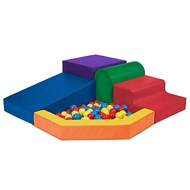 ECR4Kids® Softzone® Primary Climber With Ball Pool, 5 Pieces/Set