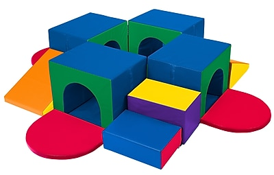 ECR4Kids® Softzone® Tunnel Maze, 19 Pieces/Set