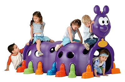 ECR4Kids® Peek-A-Boo Caterpillar Climbing Structure, Purple
