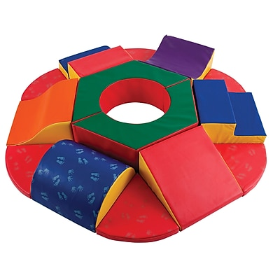 ECR4Kids Softzone RoundAbout Climber Play Set, 15