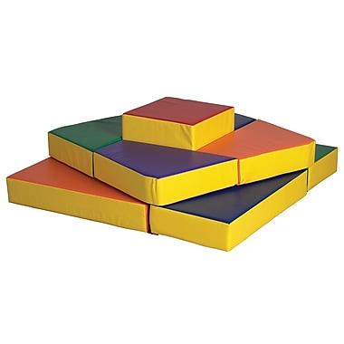 ECR4Kids® Softzone® Tri-Level Climber Play Set, 9 Pieces/Set