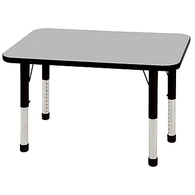 ECR4Kids T-Mold 24in. x 36in. Rectangular Activity Table With Chunky legs & Standard Glide, Gray/Black/Black