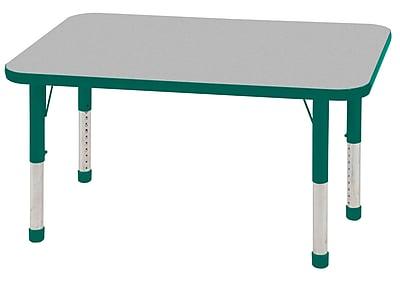 "24""x48"" Rectangular T-Mold Activity Table, Grey/Green/Chunky"