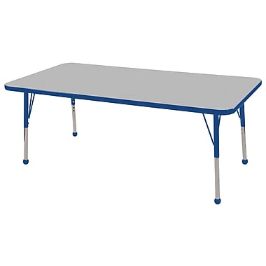 ECR4®Kids 36in. x 72in. Rectangular Activity T-Mold Tables With Standard Legs & Ball Glide