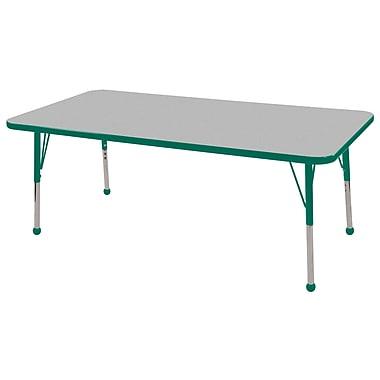 ECR4Kids 48in. Square T-Mold Table Maple/Navy -Standard Ball Glide (ELR-14117-MNV-SB)