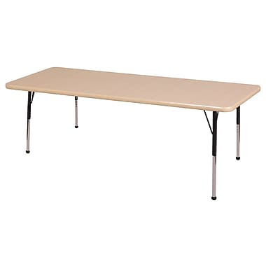 "30""x48"" Rectangular T-Mold Activity Table, Maple/Maple/Black/Standard Ball"