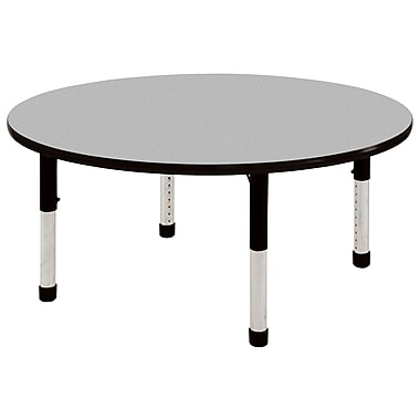 "60"" Round T-Mold Activity Table, Grey/Black/Chunky"
