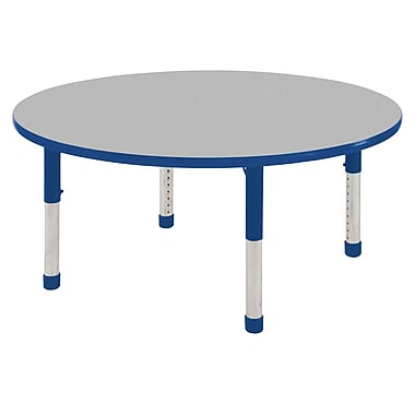 "30"" Round T-Mold Activity Table, Grey/Blue/Chunky"
