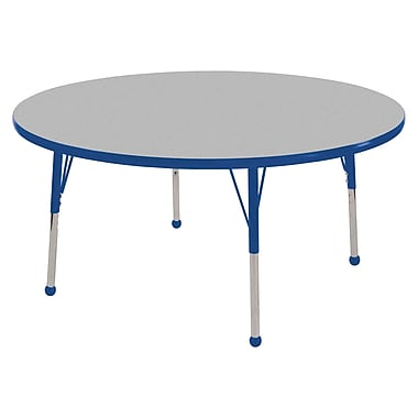 ECR4®Kids 36in. Round T-Mold Table Activity T-Mold Tables With Toddler Legs & Swivel Glide