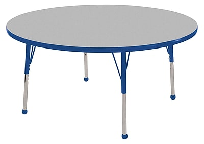 "30"" Round T-Mold Activity Table, Grey/Blue/Toddler Ball"