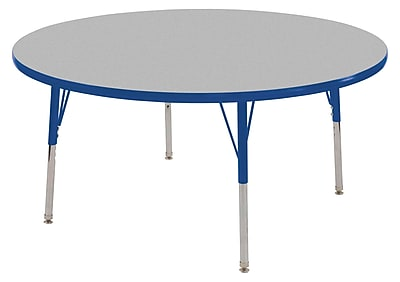 "30"" Round T-Mold Activity Table, Grey/Blue/Standard Swivel"