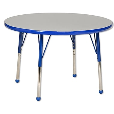 """36"""" Round T-Mold Activity Table, Grey/Blue/Toddler Ball"""