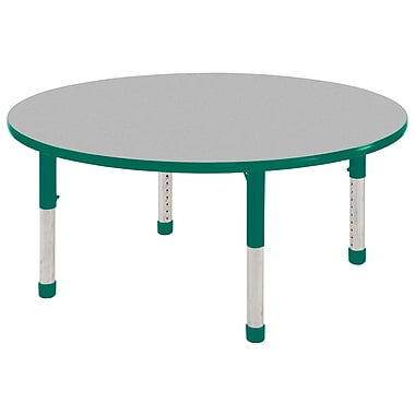 """48"""" Round T-Mold Activity Table, Grey/Green/Chunky"""