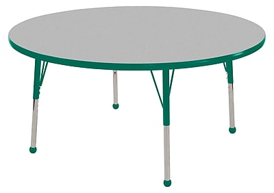 "36"" Round T-Mold Activity Table, Grey/Green/Toddler Ball"