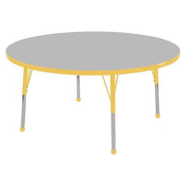 "30"" Round T-Mold Activity Table, Grey/Yellow/Toddler Ball"