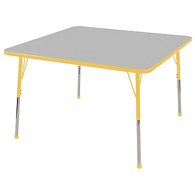 "30"" Square T-Mold Activity Table, Grey/Yellow/Standard Ball"