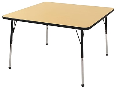 "30"" Square T-Mold Activity Table, Maple/Black/Toddler Ball"