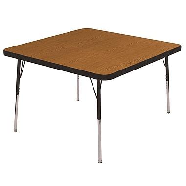 "30"" Square T-Mold Activity Table, Oak/Black/Toddler Swivel"
