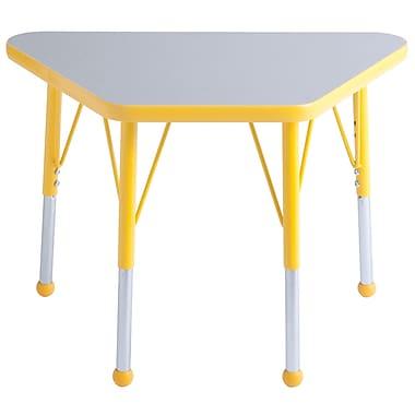 ECR4Kids 30in. Square T-Mold Table Maple/Navy -Standard Swivel Glide (ELR-14116-MNV-SS)