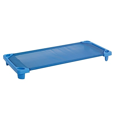 ECR4Kids® Streamline Standard Ready to Assemble Kiddie Cot, Blue