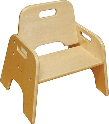ECR4Kids 6H Stackable Wooden Toddler Chair Natural Staples