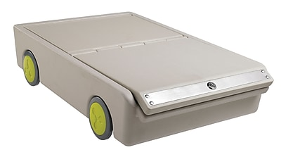 ECR4Kids Under-Bed Personal Safe Lock and Roll Bin, Gray 40185