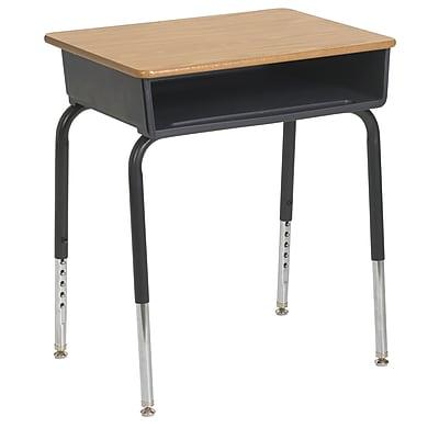 ECR4Kids® Metal Open Front Desk, Oak