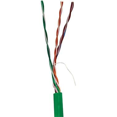 Vericom TCTMBW5U01555 1000' CAT-5e UTP Solid Riser CMR Cable, Green