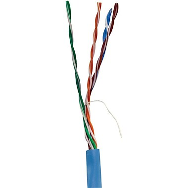 Vericom TCTMBW5U02400 1000' CAT-5e UTP Plenum Rated CMP Cable, Blue