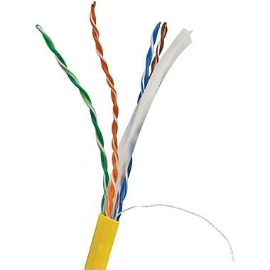 Vericom TCTMBW6U01445 1000' CAT-6 UTP Solid Riser CMR Cable, Yellow