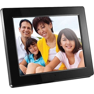 Aluratek High-Resolution Digital Picture Frame, 512MB Memory, 12