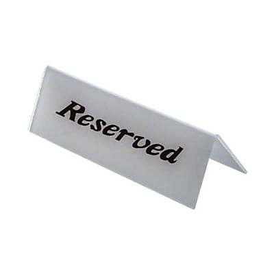American Metalcraft 2601H, ''Reserved'' Heavy Weight Sign