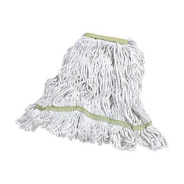 Carlisle Flo-Pac 369413B Narrow Looped-End Cotton Mop Head, Yellow Band
