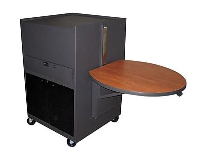 Marvel® Vizion® Dark Neutral Media Center Cart With Acrylic Door, Cherry