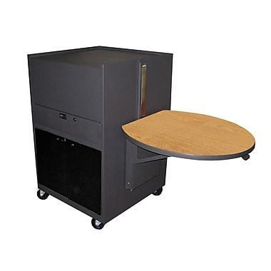 Marvel® Vizion® Dark Neutral Media Center Cart With Acrylic Door, Oak