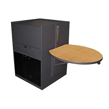 Marvel® Vizion® Stationary Media Center Cart With Acrylic Door; Oak