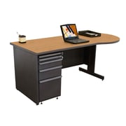 "Marvel® Zapf® 72"" x 30"" Laminate Teachers Conference Desk; Solar Oak"