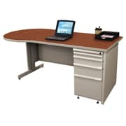 "Marvel® Zapf® Featherstone 72"" x 30"" Laminate Teachers Conference Desk; Collectors Cherry"