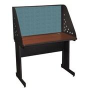 "Marvel® Pronto® Dark Neutral 42"" x 30"" Laminate Training Table W/Carrel & Modesty Panel, Slate"