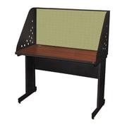 "Marvel® Pronto® Dark Neutral 48"" x 24"" Laminate Training Table W/Carrel & Modesty Panel, Peridot"