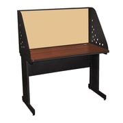 "Marvel® Pronto® Dark Neutral 48"" x 30"" Laminate Training Table W/Carrel & Modesty Panel, Beryl"