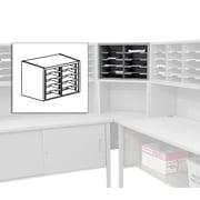 "Marvel® Mailroom 16"" x 24"" x 14"" 10 Pockets Utility Sorter with Shelves, Gray"