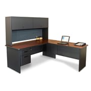 "Marvel® Pronto® 72"" x 78"" Laminate Desk W/Return, Slate"