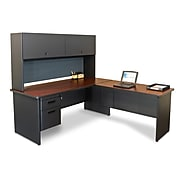 "Marvel® Pronto® 72"" x 78"" Laminate Desk W/Return, Slate"
