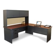 "Marvel® Pronto® 72"" x 78"" Laminate Desk W/Return; Beryl"