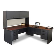 "Marvel® Pronto® 72"" x 78"" Laminate Desk W/Return & Pedestal; Chalk"