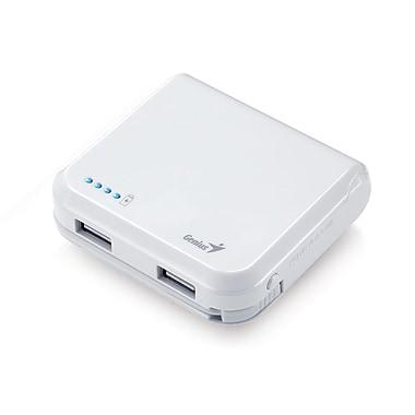 Genius - Chargeur universel de pile portable ECO-u500 5200mAh avec protection de sécurité, blanc