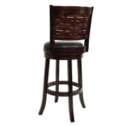 "Boraam Sumatra 29"" Wood Swivel Stool, Cappuccino"