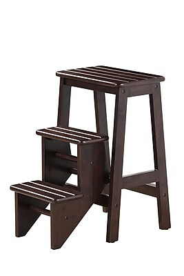 Boraam Hardwood Step Stool; 24