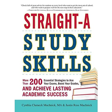 Straight-A Study Skills Cynthia Clumeck Muchnick , Justin Ross Muchnick Paperback